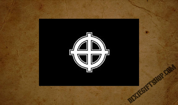 Black Celtic Cross Flag