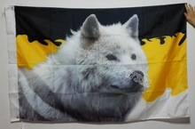 Russian White Wolf Flag