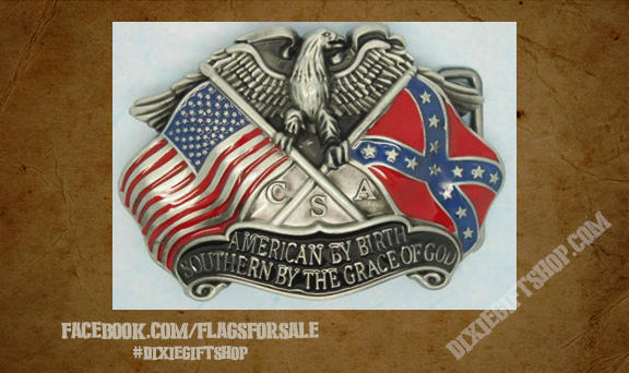 Rebel - American By Birth Buckle