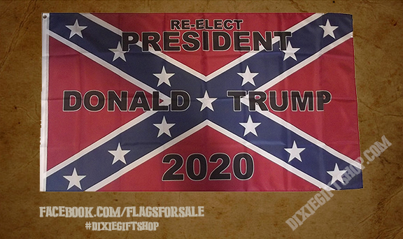 Rebel - Trump 2020 Flag