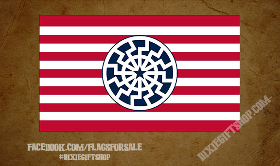 Black Sun / Red White & Blue Flag