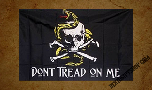 Don\'t Tread On Me Gadsden Pirate Flag