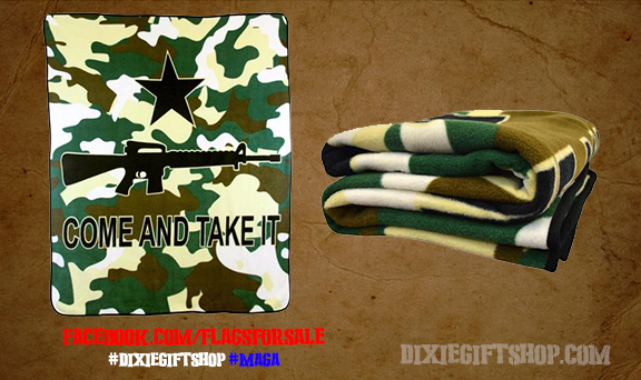 Come and Take It Camo Blanket