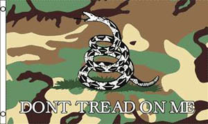 Don\'t Tread On Me Gadsden Camo Flag