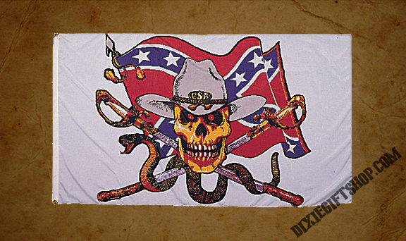 Rebel - CSA Skull Flag