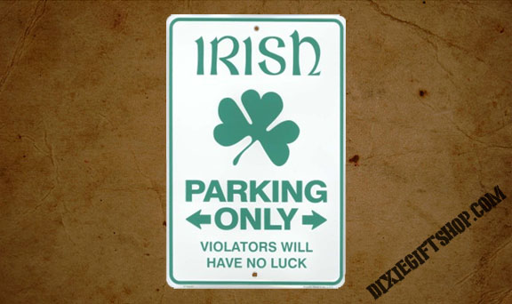 Irish Parking Metal Sign