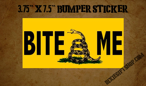 Gadsden BITE ME bumper sticker