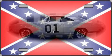 Confederate Charger License Plate
