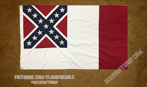 3rd Confederate National Flag - Cotton