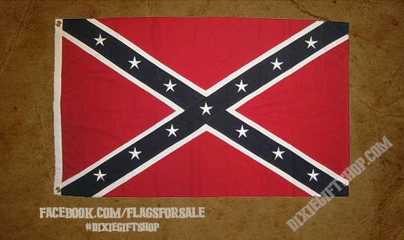 Sewn Cotton Rebel Flag