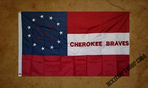 1st Cherokee Mounted Rifles - Cherokee Braves Flag