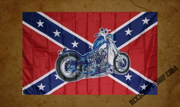 Rebel - Motorcycle Flag