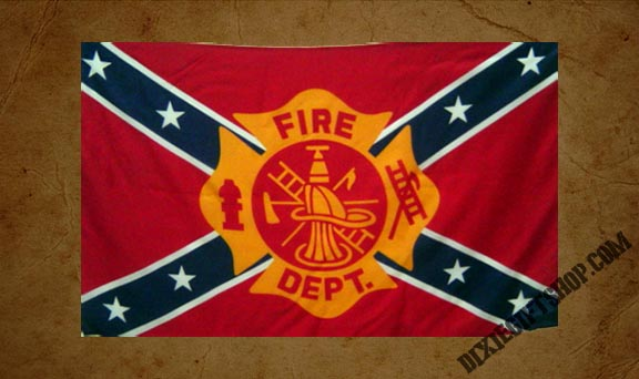 Rebel - Fireman Flag