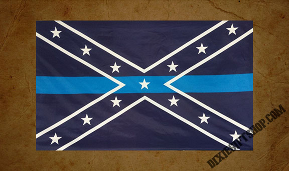 Rebel - Blue Line Flag