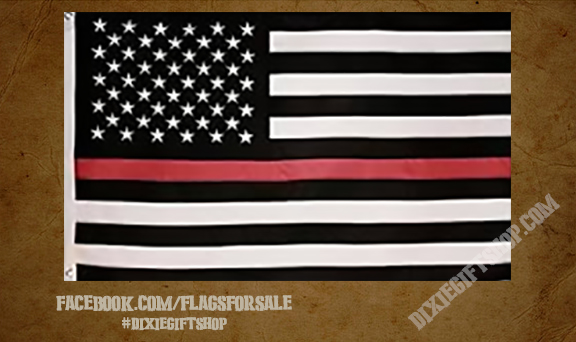 USA - Red Line Flag