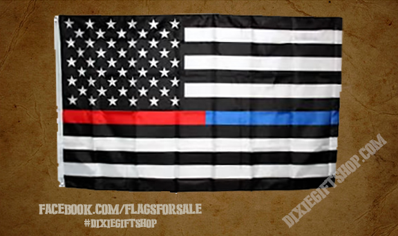 USA - Red / Blue Line Flag