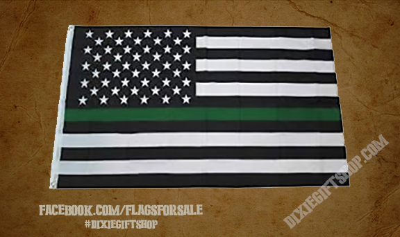 USA - Green Line Flag