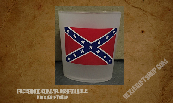 Confederate Shot Glass