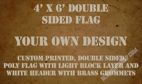 Flag - Custom 4'x6' Double Sided