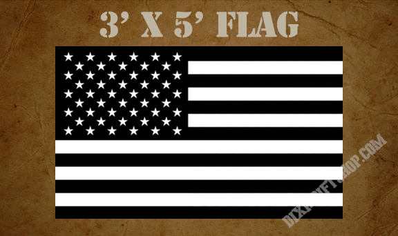 Flag - USA Black & White
