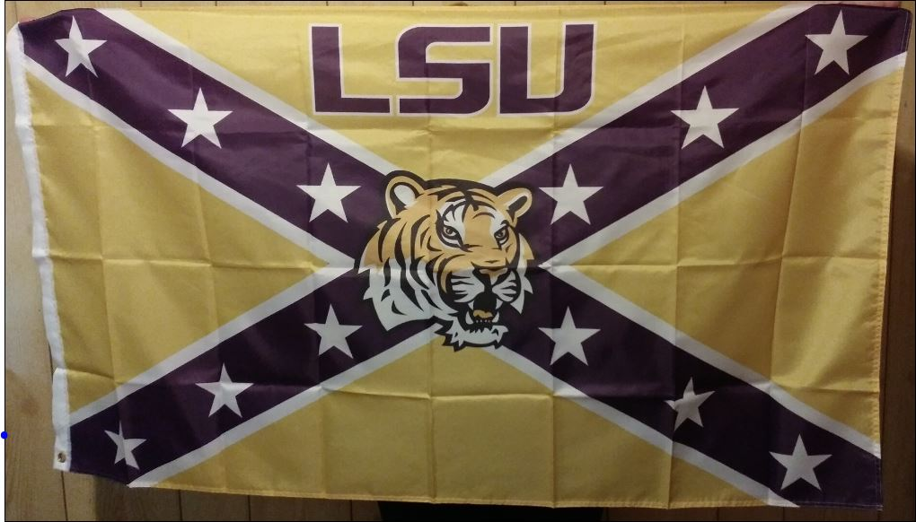Rebel - Purple & Gold LSU Tiger Flag