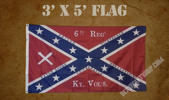 Flag - 6th Kentucky Volunteer Infantry Confederate