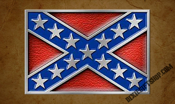 Confederate Battle Flag Buckle