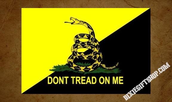 Don't Tread On Me Gadsden Ancap Flag