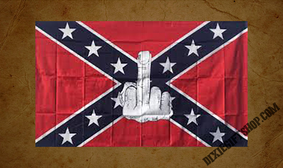 Rebel - Middle Finger Flag