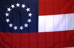 Flag - 1st Confederate National - 13 Stars