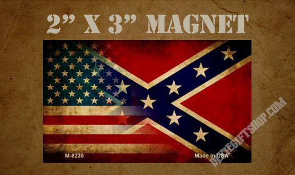 Magnet - USA/Rebel Flag