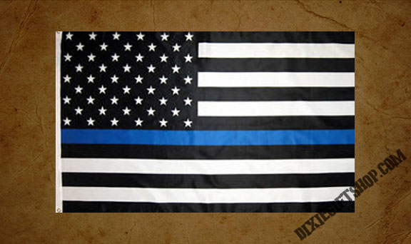 Flag - USA - Blue Line Officers