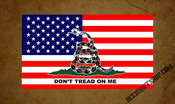 Don't Tread On Me Gadsden / USA Flag